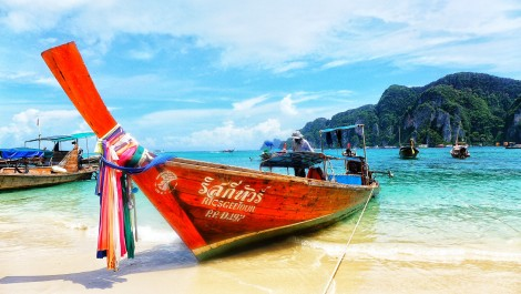 Long tail boats used on Phi Phi Don